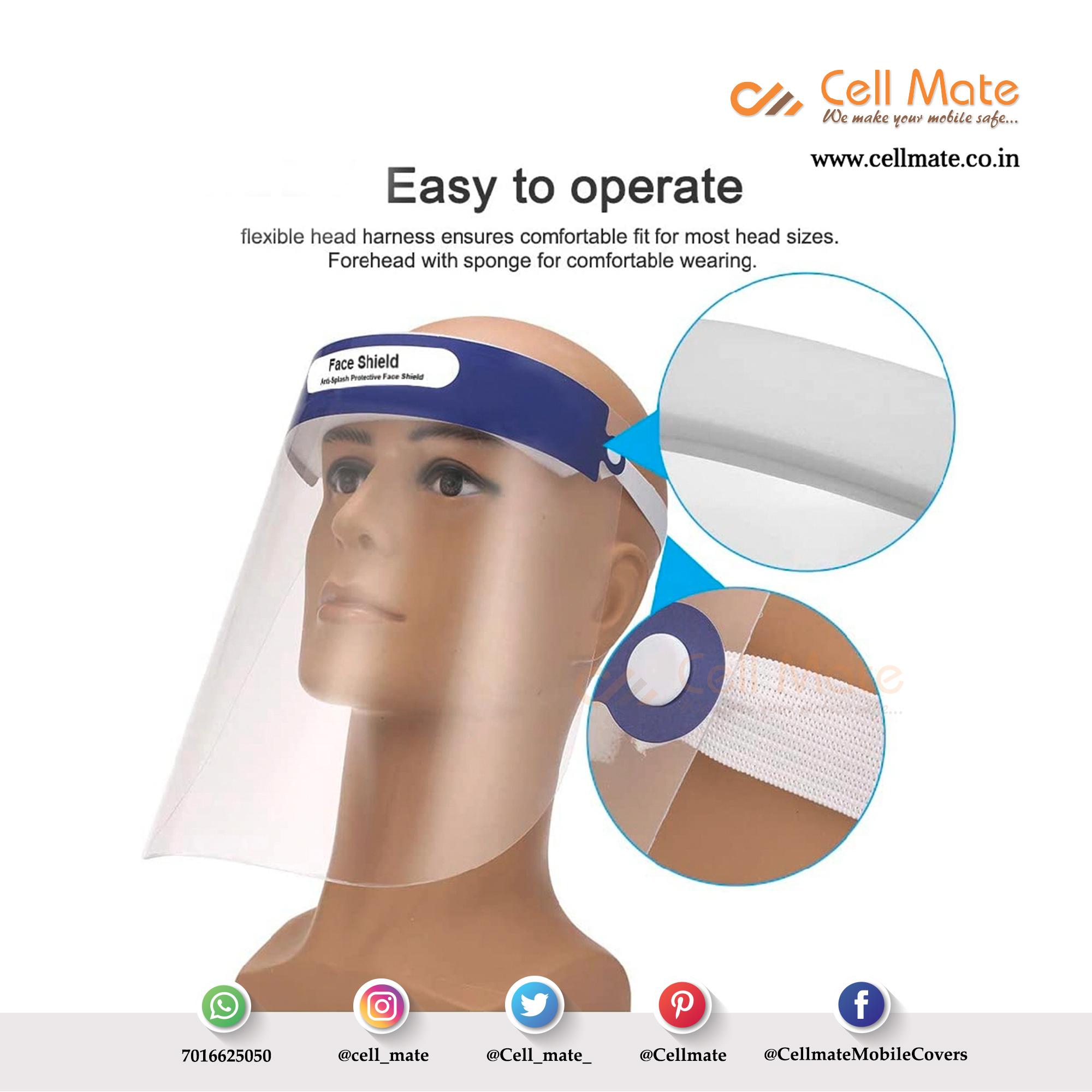 Cellmate Reusable Safety Protective Face Shield