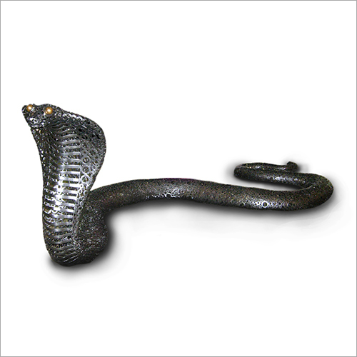 14 Foot Length Iron and Brass Snake Sculpture
