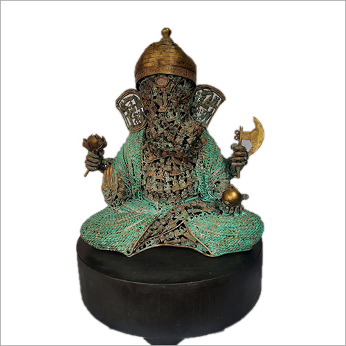 20 Inches Brass Lord Ganesha Statue