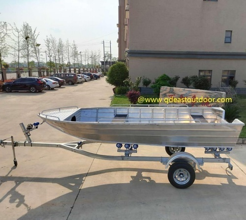 Aluminum fishing boat, Jet boat
