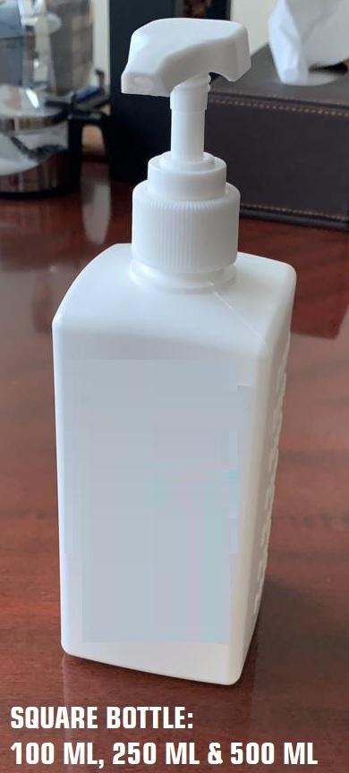 Square Hand Sanitiser Bottle