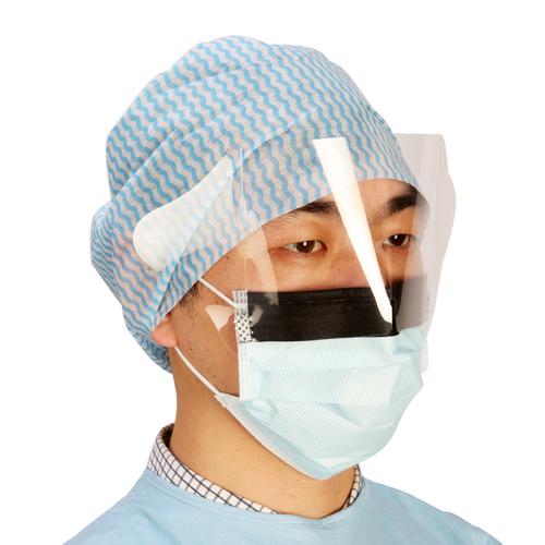 3 Ply Disposable Face Mask With Visor Eye Shield