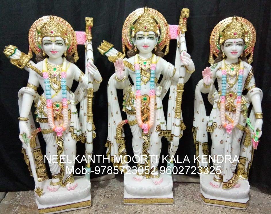 Marble God Ram Darbar Statue