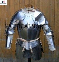 Nauticalmart Medieval Reenactment Steel Armour Breastplate With Arm Set Halloween