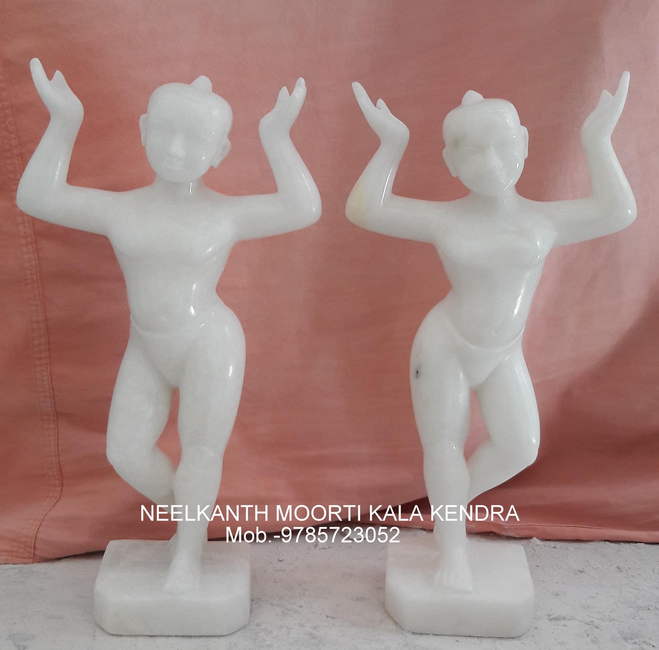Marble God Chaitanya Mahaprabhu Statue