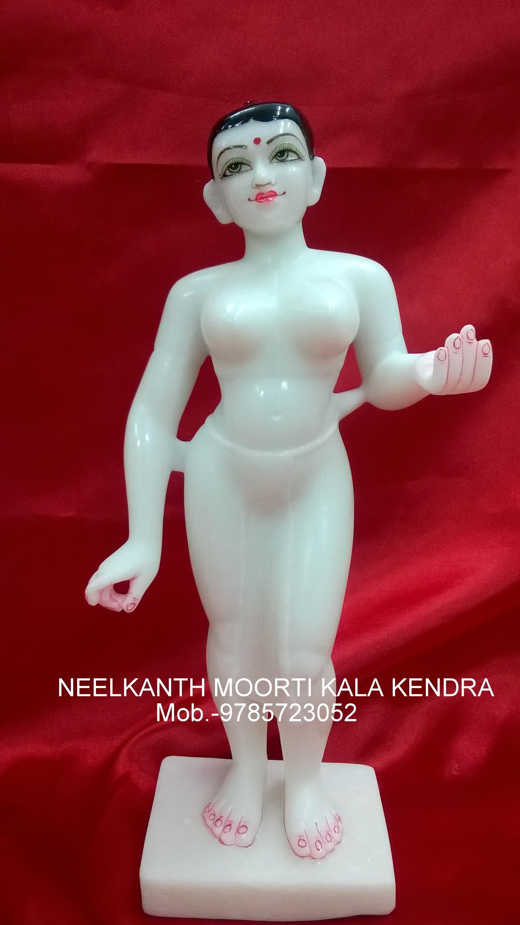 Lalita Vishaka Murti White Marble