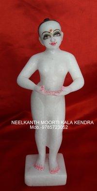Lalita Vishakha In White Marble Murti
