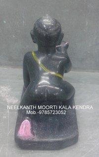 Black Marble Laddu Gopal Statue