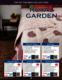 Royal Garden Bedsheet (set Of 6cs)