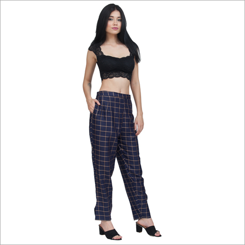 Ladies Checked Trouser