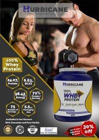 Hurricane 100% Whey Protein - Vanilla Flavour