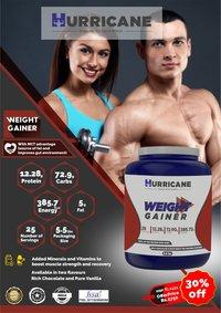 Hurricane Weight Gainer - Vanilla Flavour