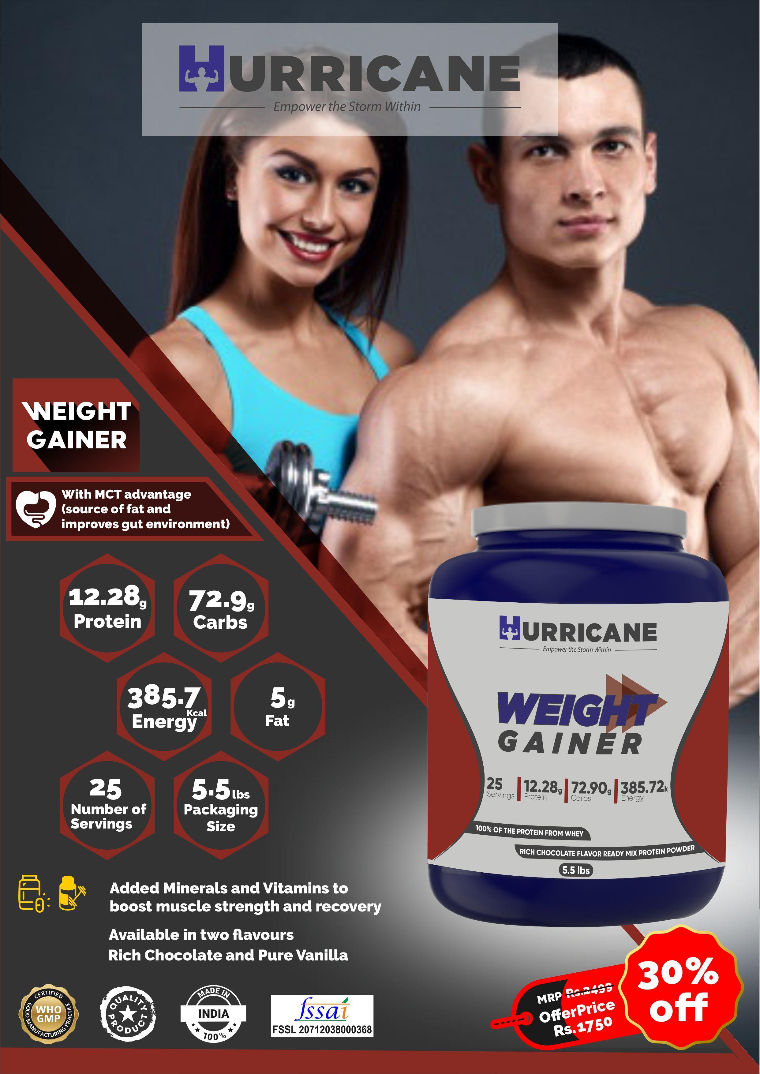 Hurricane Weight Gainer - Chocolate Flavour