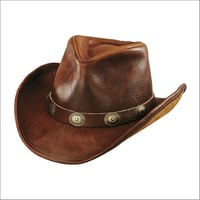 Genuine Leather Mens Hat