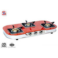 Coloured Three Burner Gas Stove