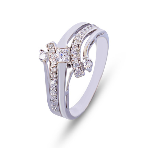 Sterling Silver Studded Ring
