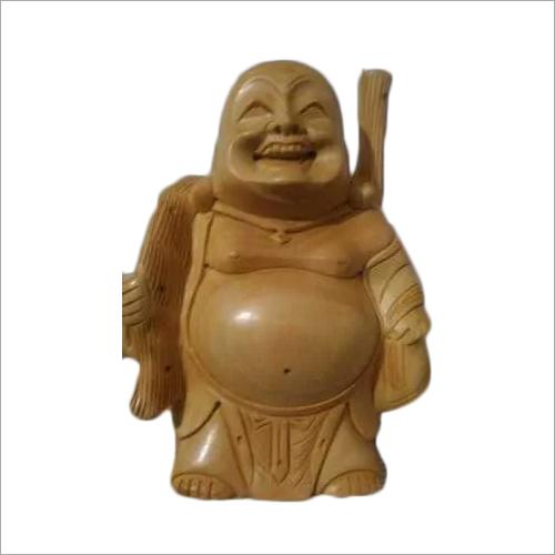 Wooden Potli laughing Buddha