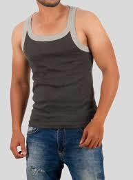 MENS GYM SPORTS VEST DOUBLE SHADE