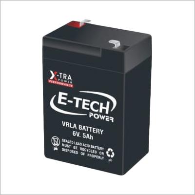 E-Tech Power 6V 5Ah VRLA Battery