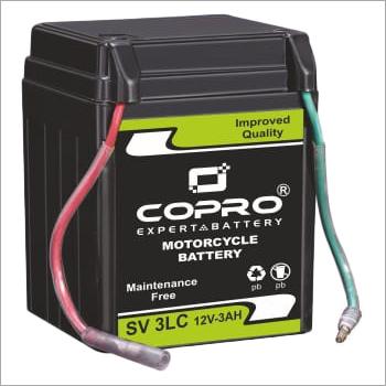Copro SV 3LC 12V 3AH Two Wheeler VRLA Battery