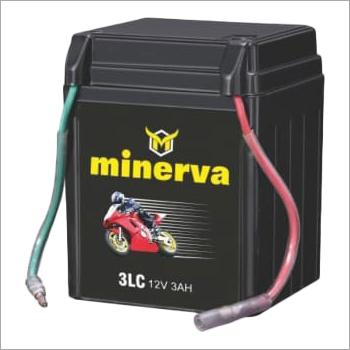 Minerva 3LC 12V 3AH Two Wheeler Battery