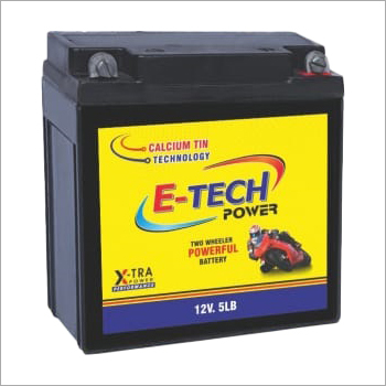 E-Tech Power 12V 5LB Two Wheeler Battery