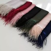 Cashmere/Pashmina With Feather Tussle Stoles, Size-70x200cm