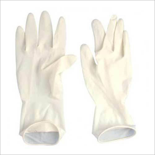 White Disposable Surgical Gloves