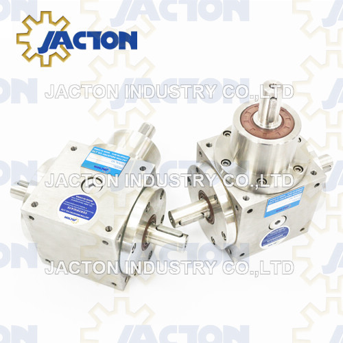 Bss140 Corrosion-Resistant Shaft Drive 90 Degree Right Angle Bevel Gearbox, Compact Stainless Steel T Drive Gearbox Right Angle