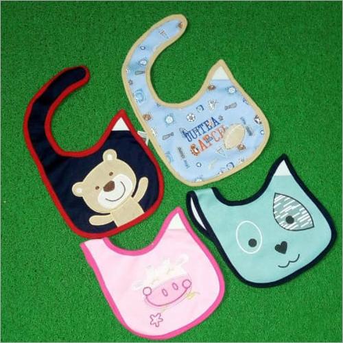 Multicolor Baby Cotton Cartoon Printed Cut Bibs