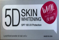 5D WHITE USA MICRO GLUTA 80000 SKIN WHITENING INJECTION