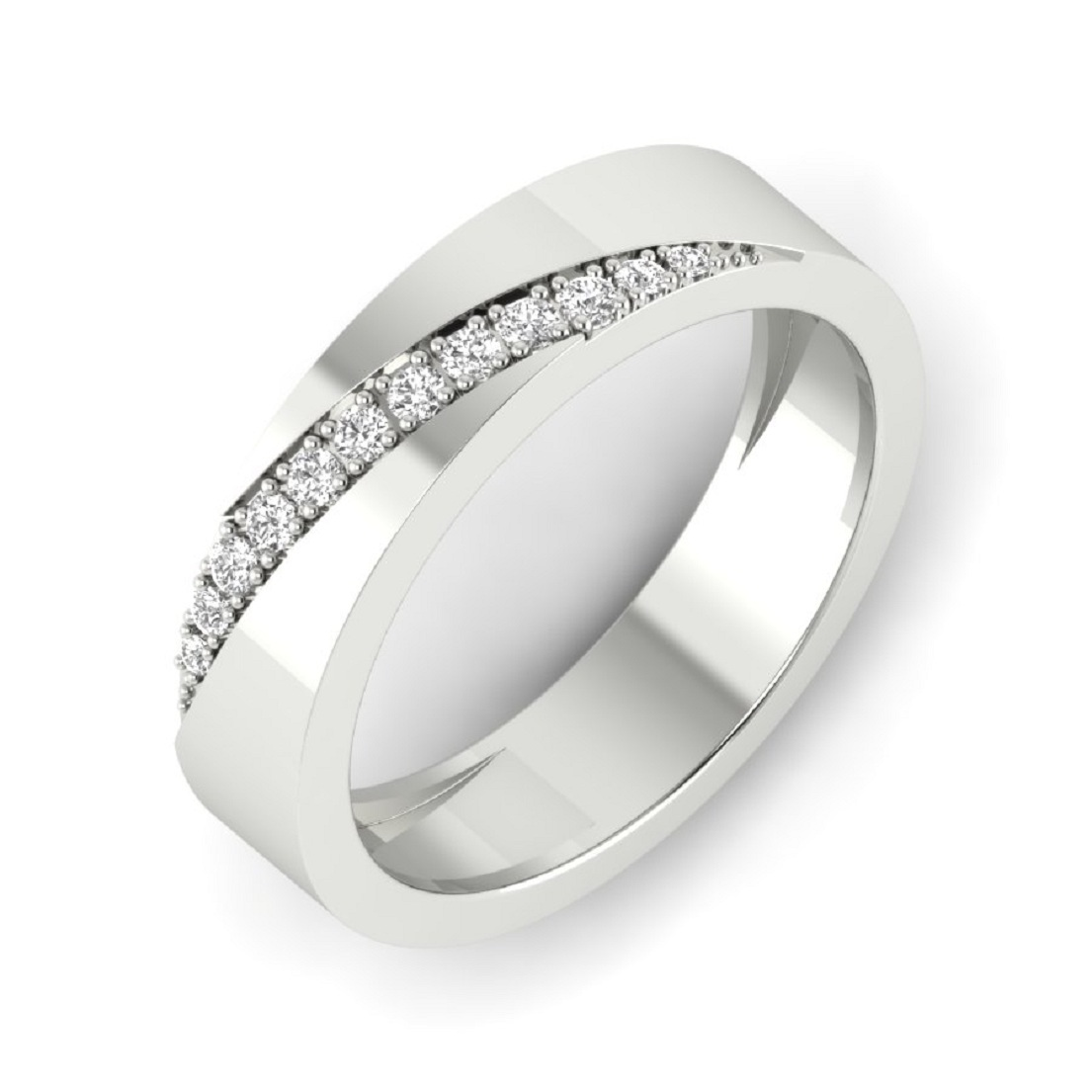 Silver Cocktail Ring For Female