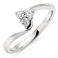 3 Stone silver ring