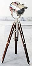 Nautical Designer Collectible Searchlight Spot Light Studio Table Lamp With Tripod Stand