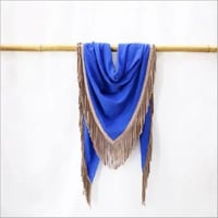Pashmina Triangle Suede Tussle or Fringes Stole