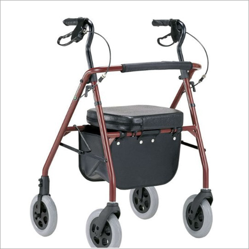 Height Adjustable Caster Rollator