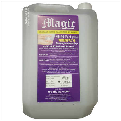 5 liter Gel Base Sanitizer