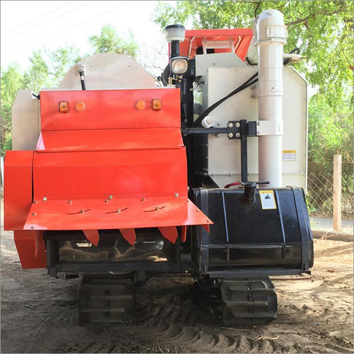 72 Hp Full Straw Mini Combine Harvester