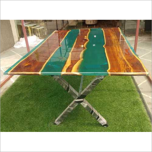 WOODEN EPOXY TABLE