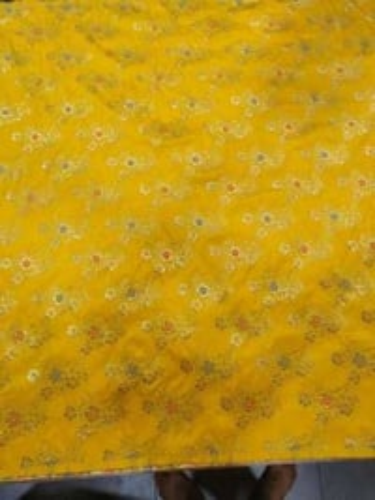 "Woven 44-45"" Nylon Dyeable Zari Jacquard Fabric"
