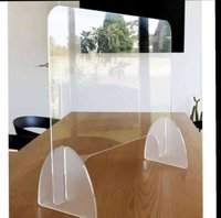 Transparent Polished Covid Protection Acrylic Screen