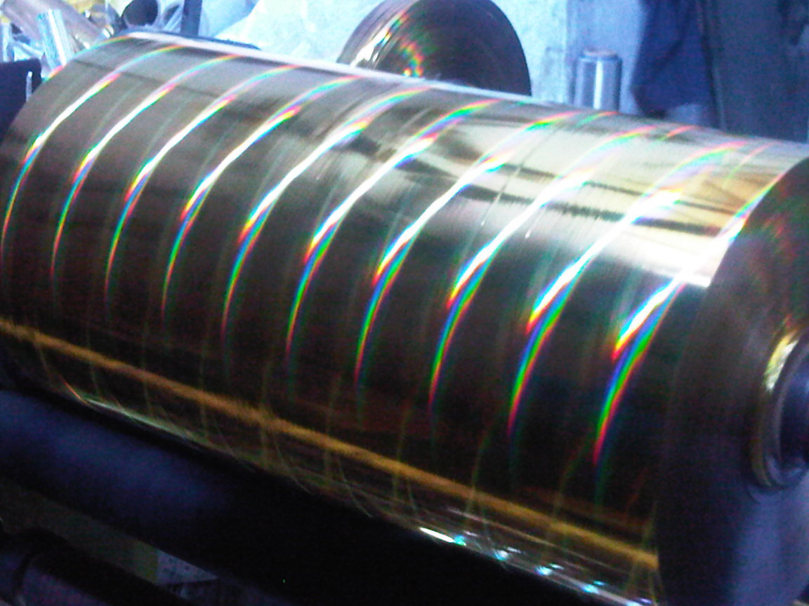 Holographic Rainbow  laser films