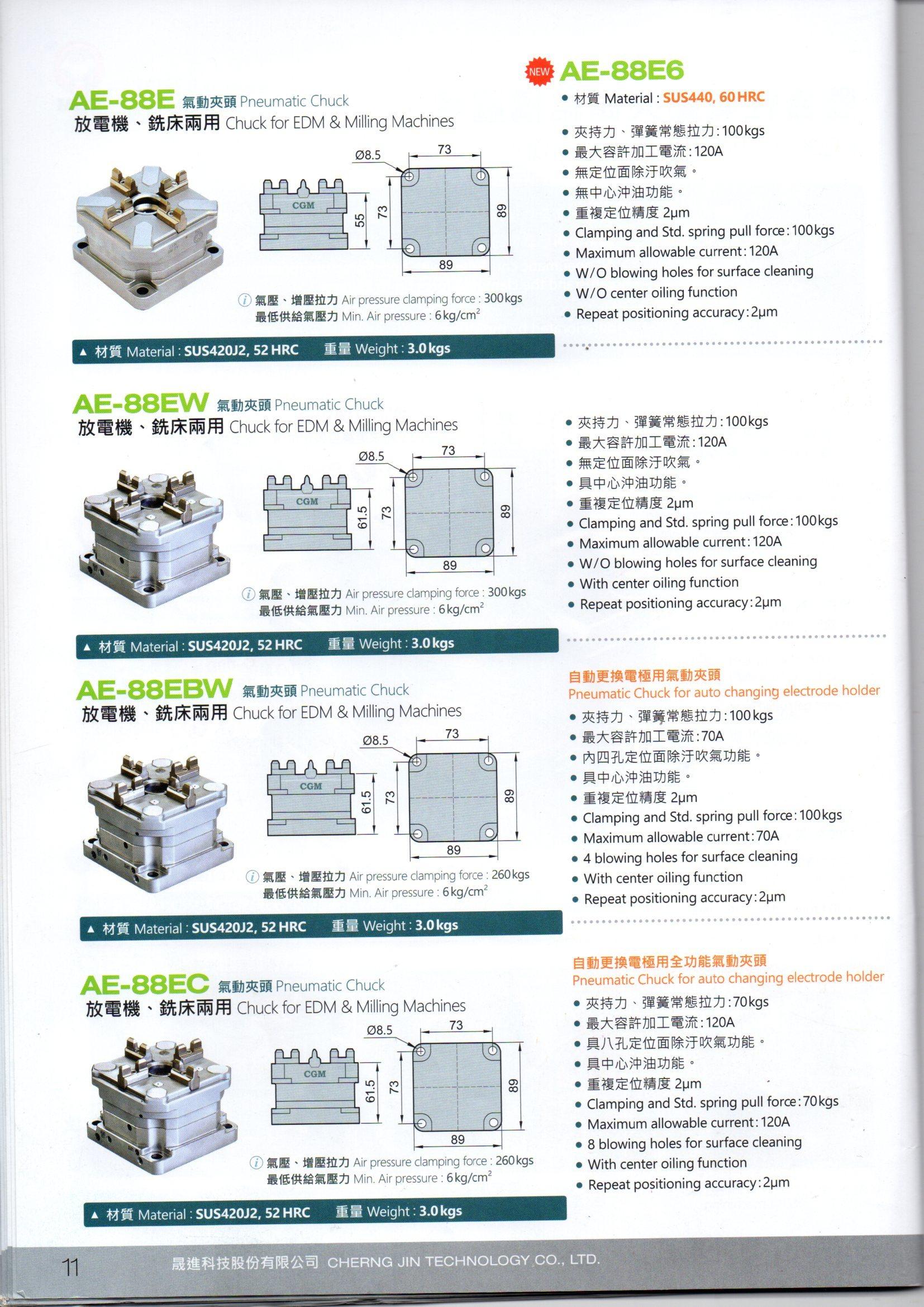Air Chucks for EDM & CNC