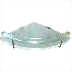 Multi-Purpose Glass Corner Shelf with Heavy Wall Brackets
