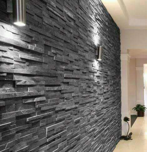 Black Slate Stone Wall Cladding