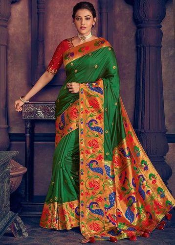 Floral Print Banarasi Jacquard Saree