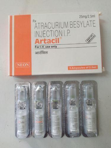 Artacil 25mg/2.5ml Atracurium Besylate Injection