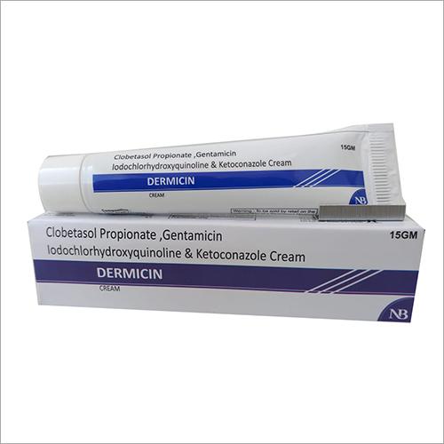 15 gm Clobetasol Propionate Gentamicin Iodochlorhydroxyquinoline And Ketoconazole Cream