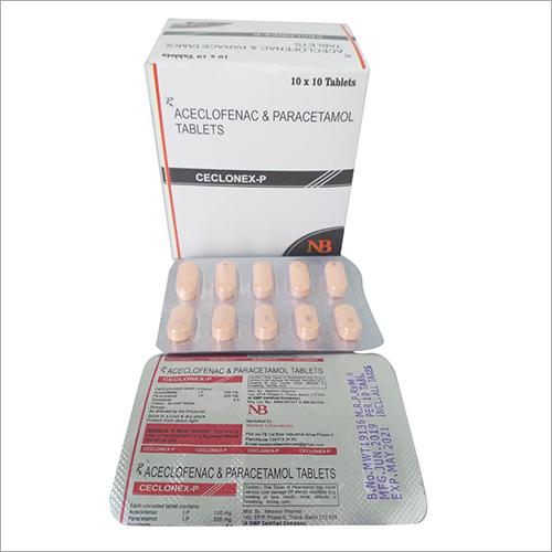 Medical Aceclofenac And Paracetamol Tablets