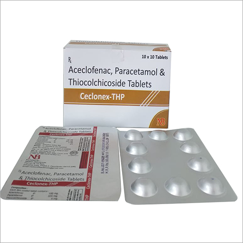 Aceclofenac Paracetamol And Thiocolchicoside Tablets